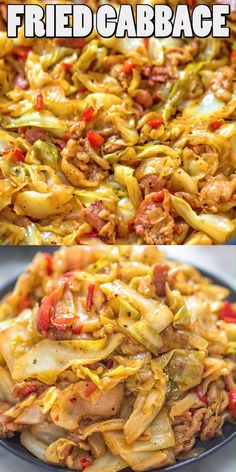This Fried Cabbage recipe is insanely good! Made with bacon, onion, bell pepper, and a touch of hot sauce, it is easy to make, simple, and comes out perfect every time! FOLLOW Cooktoria for more deliciousness! #cabbage #dinner #lunch #onepot #keto #ketosis #lowcarb #recipeoftheday
