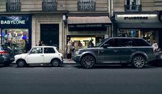 MINI COOPER , Range Rover ( like father like son )