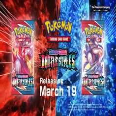 """A new March 2021 Pokemon TCG set has now been revealed! This set will be called Battle Styles and it features a new """"Battle Style"""" mechanic. This set is based off the Japanese Single Strike Master/Rapid Strike Master set and will feature 60 Battle Style cards, 12 Pokemon V cards, 6 Pokemon VMAX cards, 16 full art cards, and 2 Special Energy cards. The release date is set for March 19, 2021. #pokemon #pokemoncards #pokemontcg #pokemoncollector #pokemoncommunity #battlestyles #1editionshop All Pokemon Cards, Japanese Singles, Art Cards, Card Games, Battle, March, Creatures, Playing Card Games, Mac"""