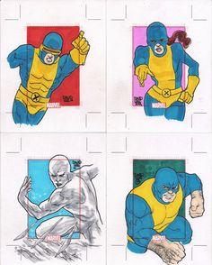 "X-Men 1960's. Set ""Marvel 75 Years"" (Rittenhouse Arquives/Marvel Comics, 2014)."