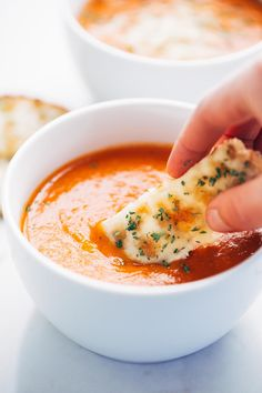 Simple Homemade Tomato Soup - Perfect for dipping!
