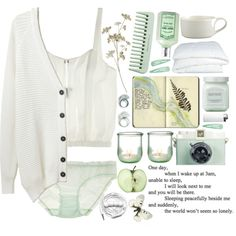 peacefully by hoeless on Polyvore featuring мода, Each X Other, The Lake & Stars, Araks, Laura Mercier, L'Occitane, Crate and Barrel, Urbanears and Moleskine