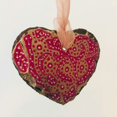 Handmade Decorative Items, Handmade Crafts, Gold Ink, Organza Ribbon, Rustic Charm, Mehndi, Slate, Gift Guide, Folk Art