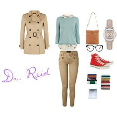 Dr. Spencer Reid outfit by katerinaallenpetrova on Polyvore featuring Oasis, Jaeger, Polo Ralph Lauren, Converse, Tory Burch and Burberry