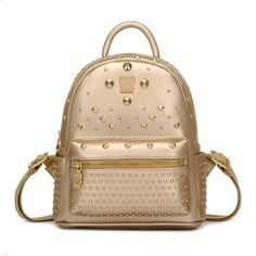 7ab034d384c Unique Gold Pinned Backpack Studded Backpack, Studded Bag, Japan Fashion,  Punk Fashion,