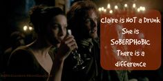#ReasonsWeLoveClaire  She redefines the word Drunkard @caitrionambalfe #Soberphobic its a thing! #AbootLaughter