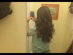 Long lasting curls with no heat. For long straight hair.