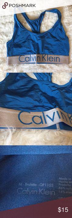 Calvin Klein Bralette NWOT Medium blue Calvin Klein bralette. See my closet for matching undies! Never worn but the tags are removed. Calvin Klein Underwear Intimates & Sleepwear Bras