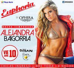 Noche de Inauguración de la nueva temporada de Euphoria con dos invitados de lujo Alejandra Baigorria y Mario Hart la mejor música llegara con Dj Gian