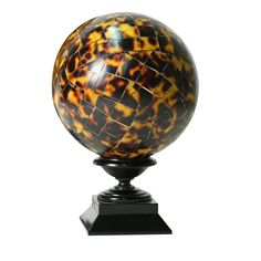 Tortoiseshell Wood Mosaic Sphere by Castorina | From a unique collection of antique and modern sculptures at https://www.1stdibs.com/furniture/decorative-objects/sculptures/