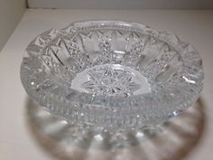 Vintage Round Cut Crystal Ashtray ****NO RESERVE****