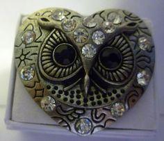 Vintage Victorian Steampunk Owl Heart Shape Face