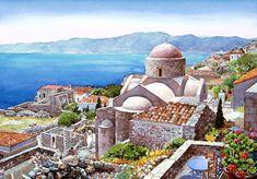 monemvasia - Watercolor Landscapes by Pantelis D. Zografos  <3 <3