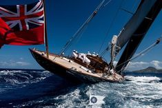 A record fleet of six J Class yachts are in the throes of their final tuning and training sessions in preparation for racing at the Saint Barths Bucket regatta starting on Thursday. J Class Yacht, Yacht Fashion, Sail World, Us Sailing, Yacht Interior, Seaside, Cruise, Around The Worlds, Yachts