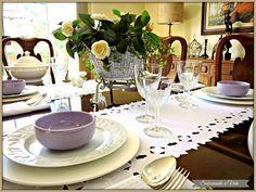 Mesa quase informal -  Decoração de Mesas - Table settings