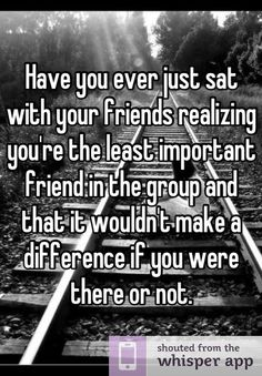 Someone from Brookfield posted a whisper, which reads Have you ever just sat wit… - Zitate Quotes Deep Feelings, Hurt Quotes, Real Quotes, Mood Quotes, Crush Quotes, Life Quotes, Left Out Quotes, Feeling Quotes, Change Quotes