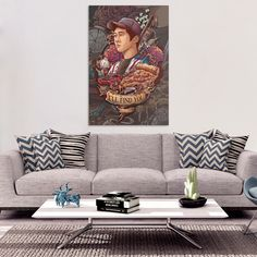 """Our original Glenn """"I'll Find You"""" art was made for this!  Extremely high quality canvas print, FULL of references and remembrances of our favorite pizza boy."""
