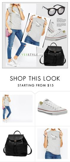 """""""YESSTYLE.com"""" by monmondefou ❤ liked on Polyvore featuring Converse, Princess Carousel, Obel and H&M"""