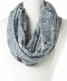 Another great find on #zulily! Gray Spiderwebs Infinity Scarf by David & Young #zulilyfinds | love this scarf but my bf wouldn't come near me if I wore it :(