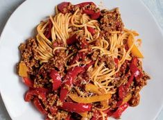 Barely cooked bell peppers add a pop of sweetness to light lamb ragù in a dish from Abruzzo, Italy. Ground Lamb, Ground Beef, Lamb Ragu, Ragu Recipe, Dry White Wine, Stuffed Sweet Peppers, How To Cook Pasta, Pork, Fresh