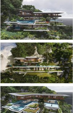 Modern Architecture House, Amazing Architecture, Modern House Design, Dream Mansion, Modern Mansion, Luxury Homes Dream Houses, Expensive Houses, Dream House Exterior, Future House