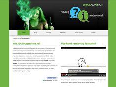 Drugsadvies.nl webdesign en naam en logo verzorgd door Reclamebureau Holland. Reclamebureaus en ontwerpbureaus