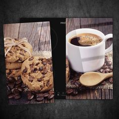 2 x Tempered Glass Chopping Board Cooker Hob Cover Protection Coffee 80280920n