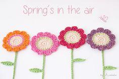 Spring Flowers Motif By Anabelia - Free Crochet Pattern - (anabeliahandmade.blogspot)