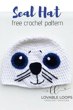 Crochet Patterns Hat Free crochet pattern for this adorable Seal Hat! Pattern is for sizes months… Crochet Baby Blanket Beginner, Beginner Crochet Tutorial, Crochet Basics, Crochet For Beginners, Crochet Animal Hats, Crochet Kids Hats, Crochet Baby Booties, Cute Crochet, Knit Hats