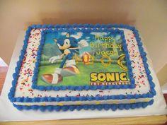 Sonic the Hedgehog Cake Design Sonic The Hedgehog Cake, Sonic Cake, Birthday Cake Decorating, Baking, Cake Ideas, Orlando, Desserts, Cakes, Design