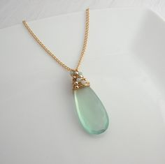 Aqua Chalcedony Pendant / Sarah Hickey Jewellery Blue Necklace, Pendant Necklace, Jewelry Gifts, Jewellery, Metal Beads, Necklace Lengths, Jewelry Collection, Summer, Aqua