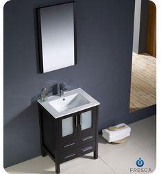 Photographic Gallery  inch dark espresso single sink bathroom vanity Fresca Torino