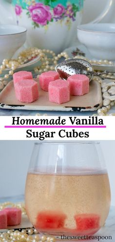 Have you been looking for a new way to spruce up your favorite drink? Then make some of our homemade vanilla sugar cubes for your next drink! Champagne Recipe, Champagne Hair, Snack Recipes, Dessert Recipes, Easy Recipes, Breakfast Recipes, Vegetarian Recipes, Cube Recipe, Vanilla Sugar