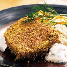 Pistachio-Crusted Tuna Steaks Recipe - http://recipes.millionhearts.hhs.gov/recipes/pistachio-crusted-tuna-steaks