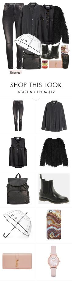 """""""you're rainy day"""" by nemes-margareta-anna ❤ liked on Polyvore featuring H&M, DKNY, Billabong, Dr. Martens, Kate Spade, Nexus, Ladurée, Yves Saint Laurent and Emporio Armani"""
