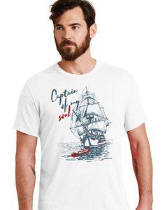 Captain Of My Soul - Sailor Series Erkek Tişört Baskı ürünümüz 0 pamuklu penyeden dikilmiştir ve kanserojen madde içermemektedir.