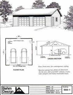 1000 images about garage plans by behm design pdf plans for 30x30 garage with loft