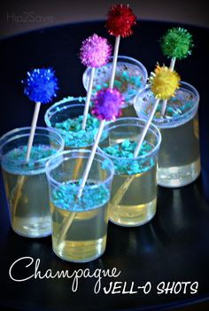 Champagne Jell-O Shots (New Year's Eve Treat) by Hip2Save