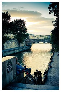 Paris, France Sweet memories of walking along the bank at sunset, sitting on a bench just taking it all in!