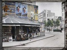 Le boulevard Raspail et la rue du Montparnasse vus de la rue Notre-Dame-des-Champs par Stéphane Passet ©Musée Albert-Kahn - Département des Hauts-de-Seine
