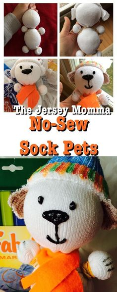 The Ultimate Pinterest Party, Week 126 | No-sew sock pets for gifts. Sock puppets, sock pets, DIY.