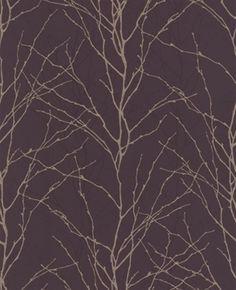 Plum silver wallpaper