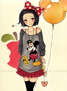 Cute Disney Anime girl :)