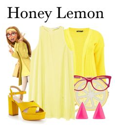"""Honey Lemon"" by megan-vanwinkle ❤ liked on Polyvore featuring Boohoo, Kate Spade, MaxMara, MANGO and Alexis Bittar"