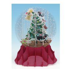 Animal Snow Globe Pop-Up Cards