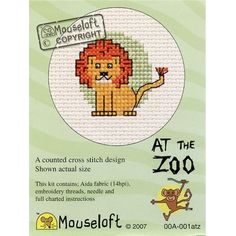 Mouseloft Lion At The Zoo Cross Stitch Kit | Hobbycraft