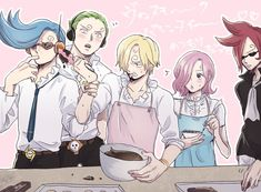 Sanji trying to make something with chocolate siblings are getting in the way. One Piece One Piece Comic, One Piece 1, One Piece Fanart, One Piece Anime, History Of Manga, Detroit Become Human Connor, Sanji Vinsmoke, King In The North, One Piece Pictures
