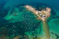 France, Morbihan (56), Ploemeur, Ancien Fort de Kerangan dit Fort Bloqué (vue aérienne)