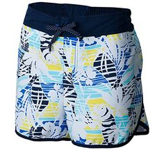 Columbia Women's Cool Coast II Shorts, X-Large/4, Stormy Blue Palm Print
