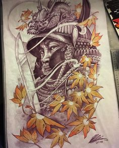 Raijin art/design done by artist 🔥 Japanese Back Tattoo, Japanese Tattoo Designs, Oni Tattoo, Samurai Tattoo, Japan Tattoo Design, Koi Fish Designs, Geisha, Samurai Artwork, Dragon Sleeve